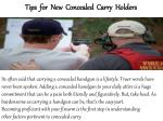 ConcealedOnline.Com- Conceal Carry Tips for new concealed carry holders