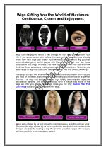 Wigs Gifting You the World of Maximum Confidence Charm and Enjoyment