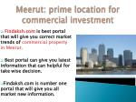 Get Investment tips for Commercial property In Meerut