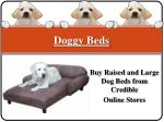 Buy Raised and Large Dog Beds from Credible Online Stores