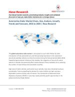 Automotive Radar Market Analysis, Size, Share, Growth and Forecast to 2024 | Hexa Research