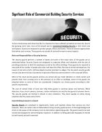 Commercial Building Security