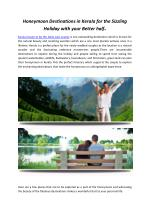 Honeymoon Destinations in Kerala for the Sizzling Holiday with your Better half
