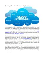 Everything to Know about Cloud Data Backup Services
