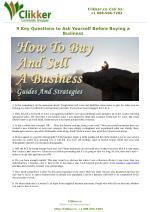 9 Key Questions to Ask Yourself Before Buying a Business