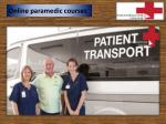 Online paramedic courses