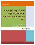 Polyhydroxyalkanoate (PHA) Market worth 34,000 MT By 2018