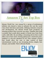 amazon tv set top box