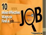 10 Most Effective Ways to Find a Job
