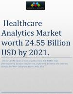 The healthcare analytics market is expected to reach USD 24.55 Billion by 2021
