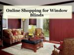 Online Shopping for Window Blinds