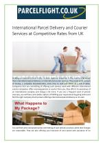 International Parcel Delivery and Courier Services at Competitive Rates from UK