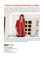 Women's Clothing Wholesalers in India