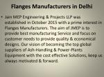 Flanges Manufacturers in Delhi|Jmep