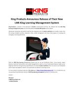 King Products Announces Release of Their New LMS King Learning Management System