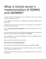 What is Oracle server's implementation of RDBMS and ORDBMS?