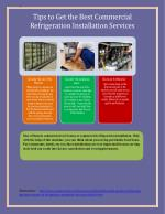 Tips to Get the Best Commercial Refrigeration Installation Services