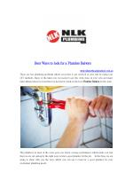 Best Ways to look for a Plumber Balwyn