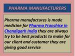 PCD Pharma Companies in Chandigarh, manufacturers in India