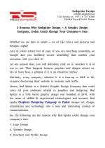 3 Reasons Why Redspider Design – A Graphic Design Company, Dubai Could Change Your Company's Fate