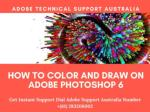 How to Color and Draw on Adobe Photoshop 6?