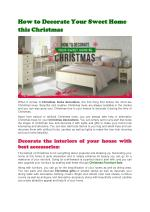 How to Decorate Your Sweet Home this Christmas