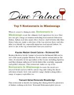 Restaurants In Mississauga Dine Palace