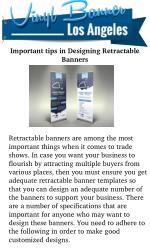 Important Tips in Designing Retractable Banners