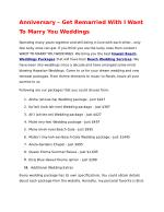 Anniversary – Get Remarried With I Want To Marry You Weddings