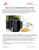 Reasons you should Definitely Buy an Air Fryer