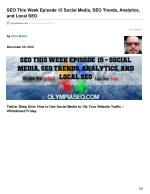 SEO This Week EP15 - Social Media, SEO Trends, Analytics, and Local SEO