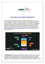 Top 10 Tips to Create a Mobile Friendly Website