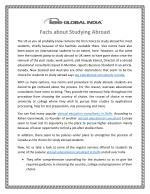 Facts about Studying Abroad