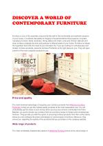 DISCOVER A WORLD OF CONTEMPORARY FURNITURE