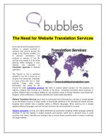 The Need for Website Translation Services