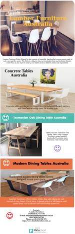 Find Best Designer Timber Furniture Australia