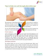 Tips to help you sail through physiotherapy