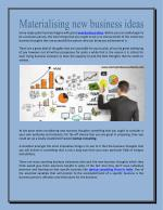 Startup India-Materialising new business ideas