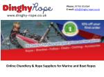 Online Chandlery & Rope Suppliers for Marine and Boat Ropes