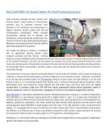 NALCLEAN 8940 - HCL Based Cleaner For Food Processing Industry