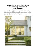Get ready to fall in Love with modern day Traditional Sash windows