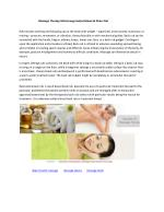 Massage Therapy Mississauga-Helps Relieve & Stress Out