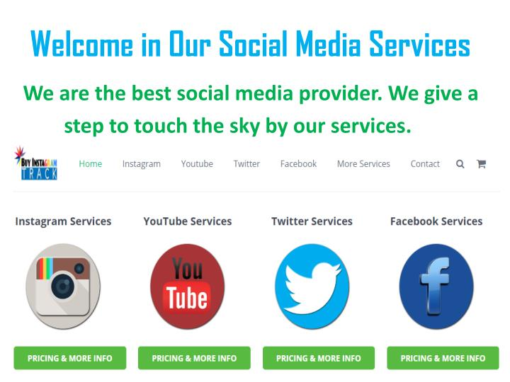 welcome in our social media services n.