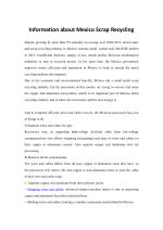 Information about Mexico Scrap Recycling