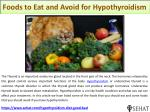 Foods to Eat and Avoid for Hypothyroidism | Sehat