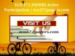ECO 372 PAPERS Active Participation / eco372papers.com