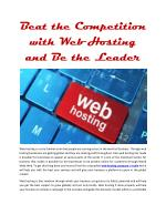 Beat the Competition with Web Hosting and Be the Leader