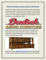 Amish furniture online store in Rochester