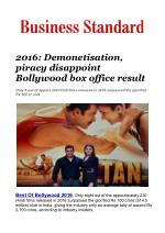 2016: Demonetisation, piracy disappoint Bollywood box office result