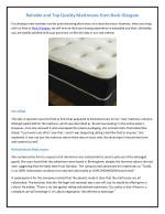 Reliable and Top Quality Mattresses from Beds Glasgow